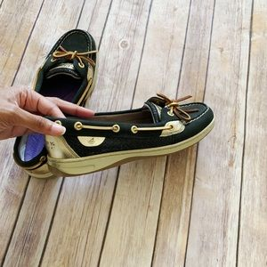 Sperrys | blue and gold top sider
